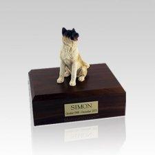 Akita Japanese Sitting Small Dog Urn