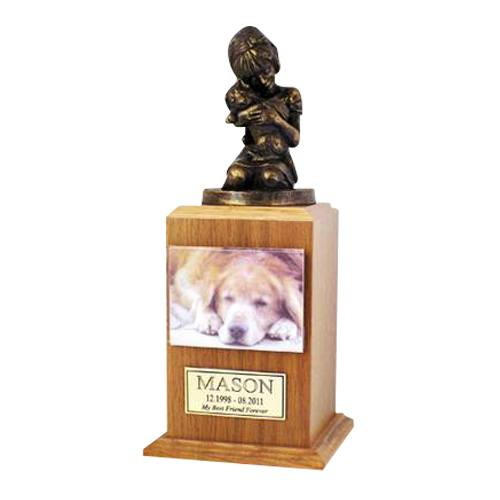 Always My Doggy Oak Cremation Urn
