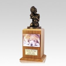 Always My Doggy Oak Large Cremation Urn