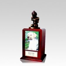 Always My Doggy Walnut Cremation Urn