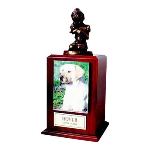Always My Doggy Walnut Cremation Urn