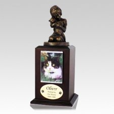 Always My Kitty Walnut Cremation Urn