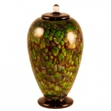 Amazon Green Glass Cremation Urn