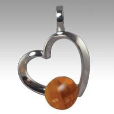 Amber Amore Cremation Ash Pendant