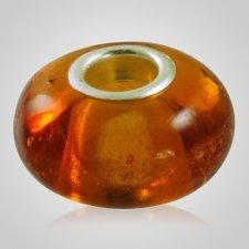 Amber Elegance Cremation Ash Bead