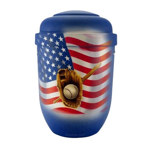 American Baseball Funeral Urn