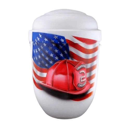 Firefighter Biodegradable Urn