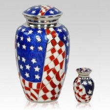 American Flag Cremation Urns
