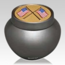American Flags Classic Keepsake Urn