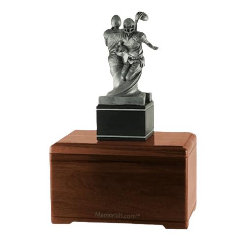 American Football Walnut Cremation Urn