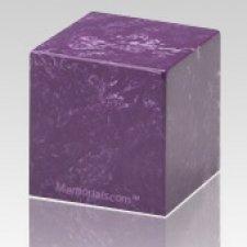Amethyst Cube Keepsake Cremation Urn