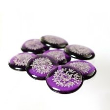 Amethyst Glass Pet Cremation Touchstones