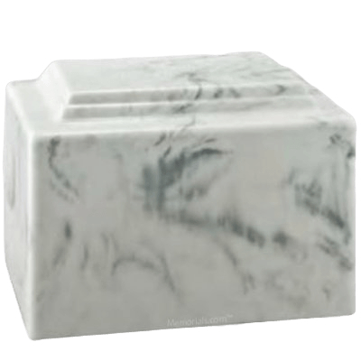 Amity Blanc Marble Cremation Urn