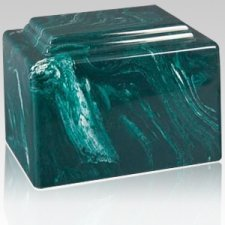 Amity Green Marble Cremation Urn