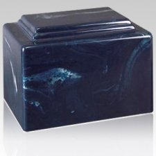 Amity Navy Marble Cremation Urn