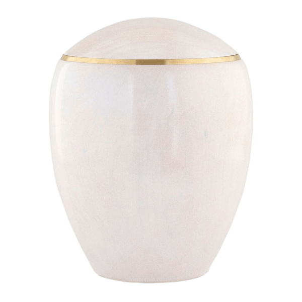 Ammil Pearl Wood Cremation Urn