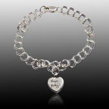 Amour Cremation Charm Bracelet