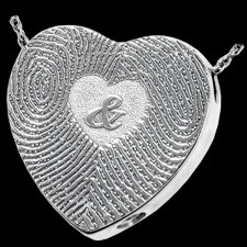 Ampersand 14k White Gold Cremation Print Keepsake