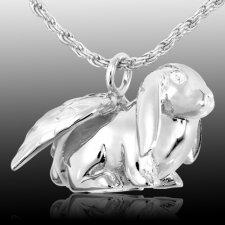 Angel Bunny Cremation Pendant