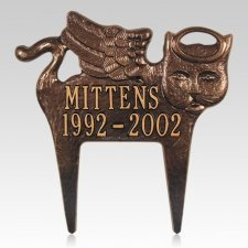 Angel Cat Pet Memorial Plaque