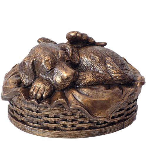 Angel Dog Large Cremation Urn Bronze