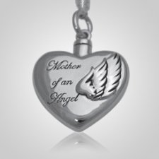 Angel Mother Heart Keepsake Pendant