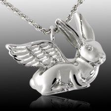 Angel Rabbit Cremation Pendant