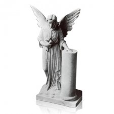 Angel with Column Marble Statues