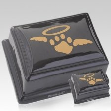 Angelic Black Ceramic Pet Urns