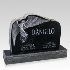 Angelic Companion Granite Headstone