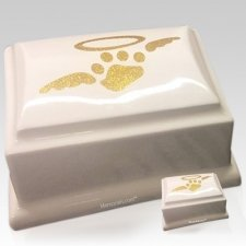 Angelic White Ceramic Pet Urns