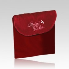 Angel Burgundy Cremation & Burial Pocket - Small
