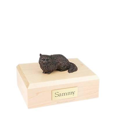 Angora Bronze Small Cat Cremation Urn
