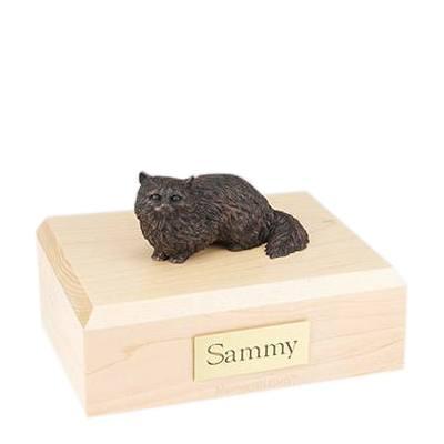 Angora Bronze Large Cat Cremation Urn