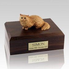 Angora Brown Cat Cremation Urns