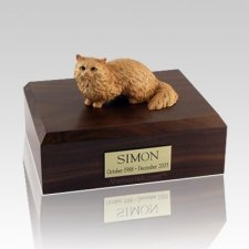 Angora Brown Large Cat Cremation Urn