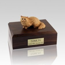 Angora Brown Medium Cat Cremation Urn