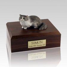 Angora Gray Large Cat Cremation Urn