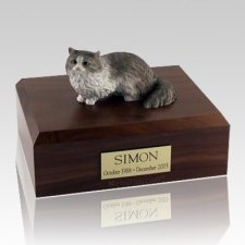 Angora Gray X Large Cat Cremation Urn
