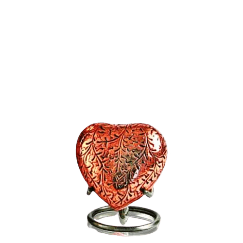 Antique Copper Heart Keepsake Urn