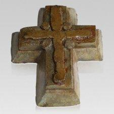 Antique Cross Keepsake Urn