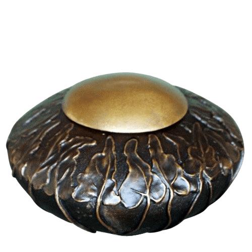 Antique Ivy Bronze Cremation Urn