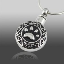 Antique Paw Dog Cremation Pendant