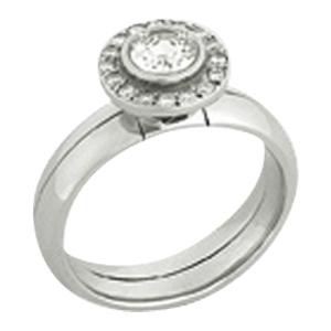 Antoinette Round Inscription Ring
