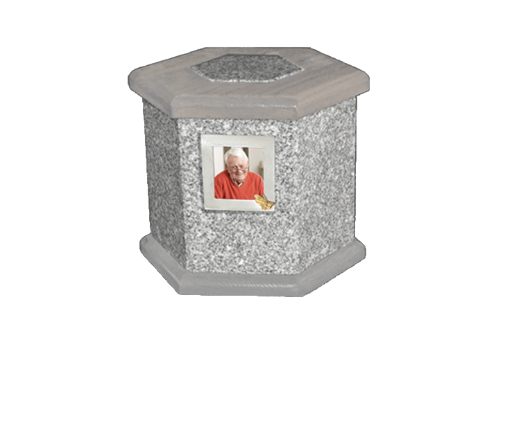 Antonio Grey Cremation Urn