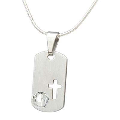 April Cross Cremation Pendant