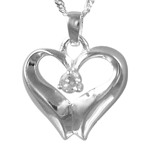April Birthstone Cremation Heart