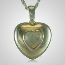 April Cremation Heart Pendant