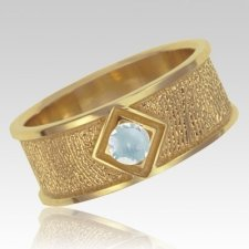 April Birthstone 14k Yellow Gold Ring Print Keepsake