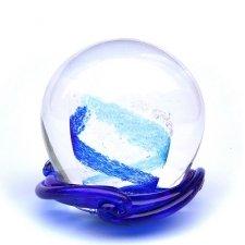 Aqua & Ocean Blue Swirl Memory Glass Keepsakes